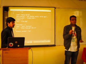 Thats me delivering session on Firefox OS.